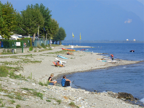 Bilder Ferienwohnung Comer See Cedro_207_Domaso_65_Strand in Lombardei
