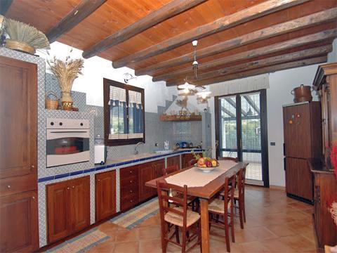 Bilder Villa Chiara_43__35_Kueche in Sizilien Nordküste Sizilien