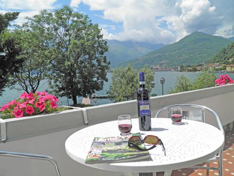 Bild von Ferienwohnung am Comer See Clara_Primo_Domaso_10_Balkon