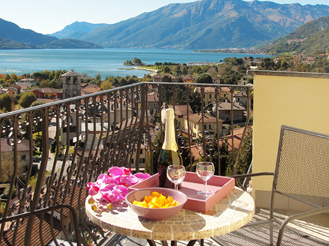 Picture of Lake Como apartment I_Runchet_Cigno_Sorico_10_Balkon
