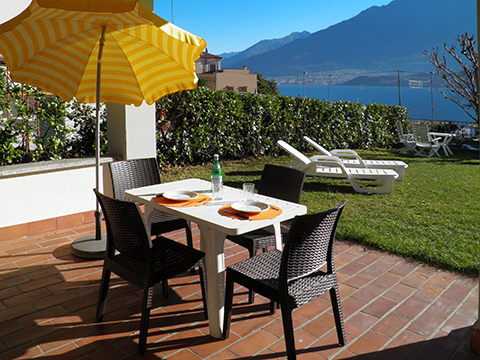 Picture of Lake Como apartment Il_Bosso_101_Domaso_10_Balkon