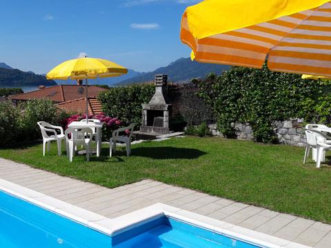 Bilder Ferienwohnung Comer See Il_Bosso_101_Domaso_20_Garten in Lombardei