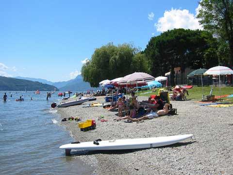 Bilder Ferienwohnung Comer See Il_Bosso_101_Domaso_65_Strand in Lombardei