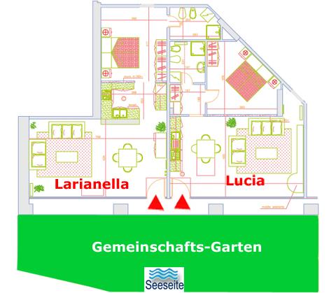 Bilder Ferienwohnung Comer See Lucia_Vercana_70_Plan in Lombardei