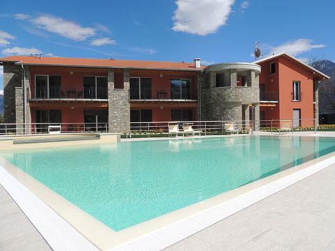 Bilder Wellness Ferienwohnung Paradiso_Bregagno_Gravedona_15_Pool in Comer See Lombardei