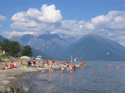 Bilder Ferienwohnung Veronica_Gravedona_65_Strand in Comer See Lombardei
