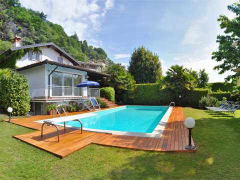 Bild von Ferienhaus in Italien Lago di Como Villa in Domaso Lombardia