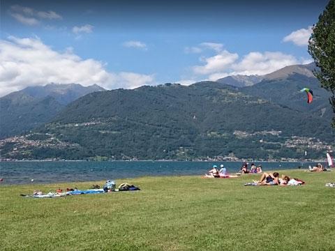 Bilder von Comer See Ferienwohnung Al_Verde_Colico_65_Strand