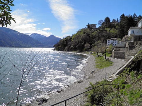 Bilder von Comer See Ferienwohnung Alla_Spiaggia_Pianello_del_Lario_65_Strand
