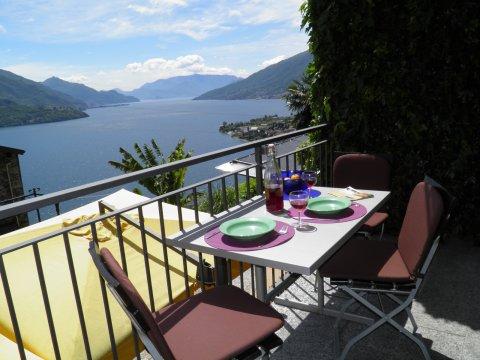 Bilder von Comer See Ferienwohnung Amarone_Gravedona_10_Balkon