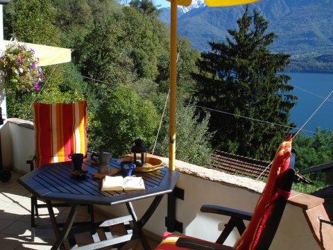Bilder von Comer See Ferienwohnung Asti_Gravedona_10_Balkon