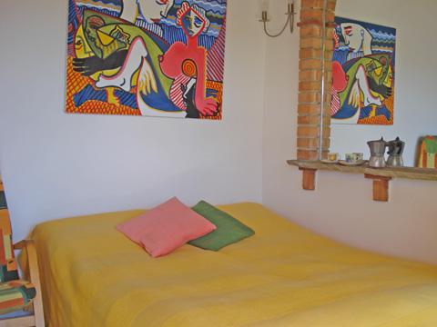 Bilder von Comer See Ferienwohnung Asti_Gravedona_40_Doppelbett-Schlafzimmer