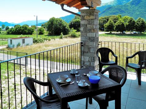 Bilder von Comer See Ferienwohnung Ca_Gio_Al_Borg_Secondo_Gravedona_10_Balkon