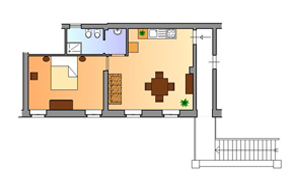 Bilder Appartement Il_Melograno_Citerna_70_Plan Ombrie / Ombrie