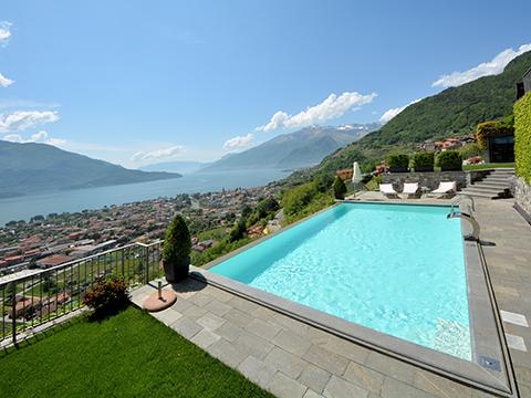 Bilder von Comer See Ferienwohnung Larianella_Vercana_16_Pool