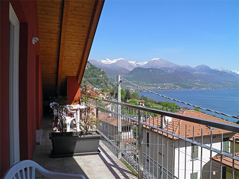 Bilder von Lac de Côme Appartement Nella_Pianello_del_Lario_10_Balkon