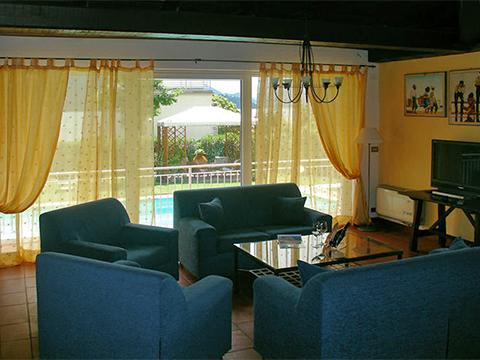 Bilder von Comer See Villa Palazzetta_Domaso_31_Wohnraum