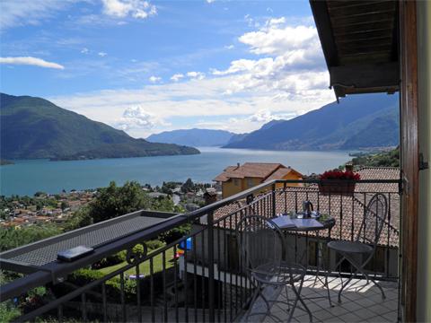 Bilder von Comer See Ferienwohnung Panorama_Vercana_10_Balkon