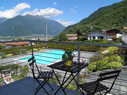 Bilder von Comer See Ferienwohnung Perla_Colico_10_Balkon