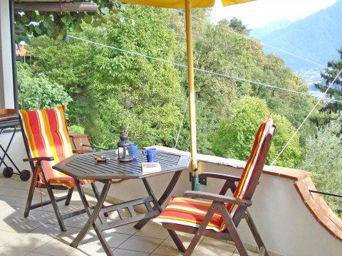 Bilder von Comer See Ferienwohnung Prosecco_Gravedona_10_Balkon