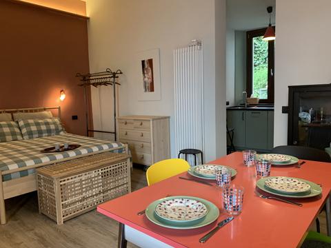 Bilder von Comer See Ferienwohnung Rayo_Pianello_del_Lario_46_Schlafraum
