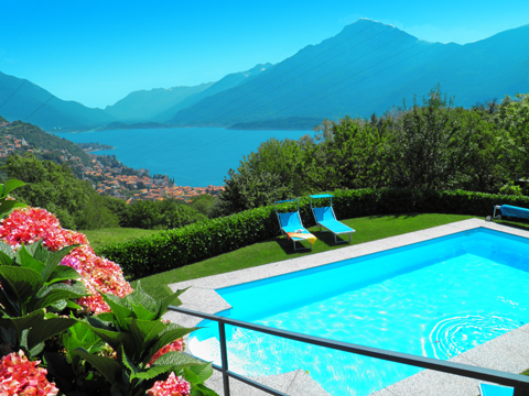 Bilder von Lac de Côme Appartement Ronco_Alborescia_15_Pool