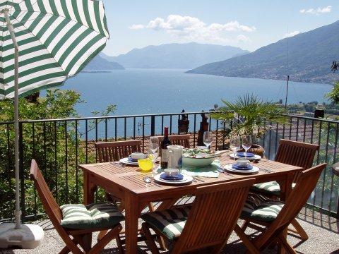 Bilder von Comer See Ferienhaus Rosato_Gravedona_10_Balkon