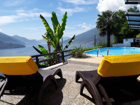 Bilder Holiday home Rosato_Gravedona_15_Pool Lake Como / Lombardy