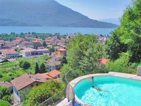 Bilder von Comer See Ferienwohnung Silvia_Vercana_15_Pool